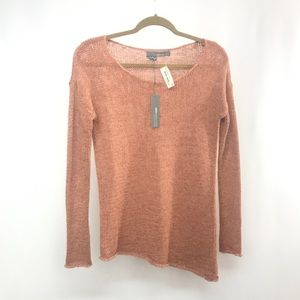 360 Sweater Peace Love and Cashmere Coral Sweater